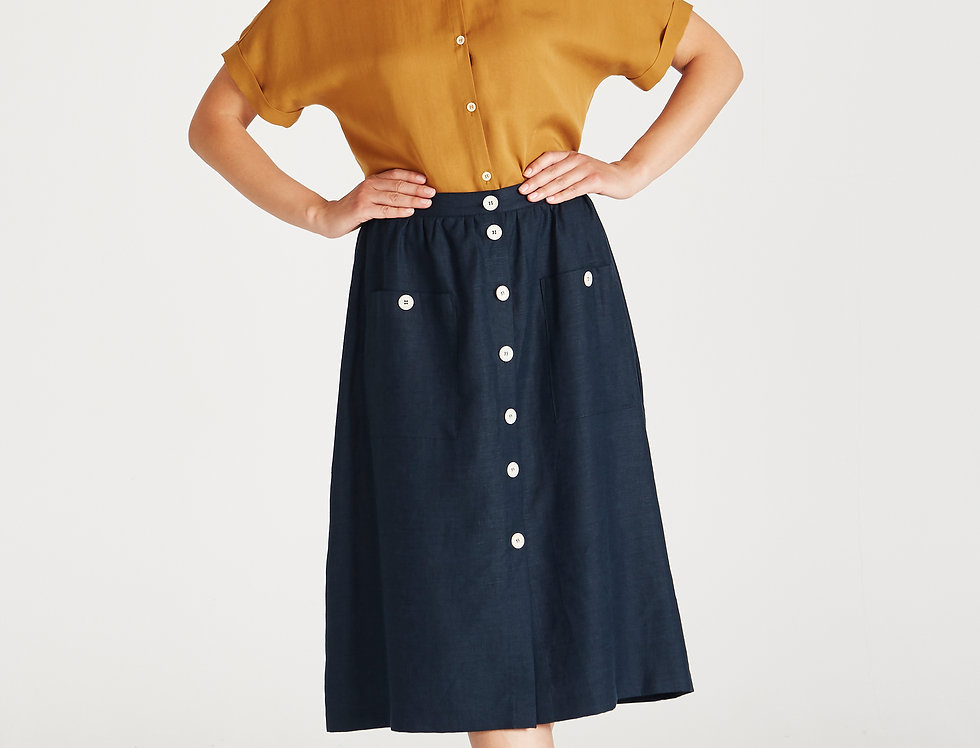 GIVN Carmen Skirt Midnight Blue