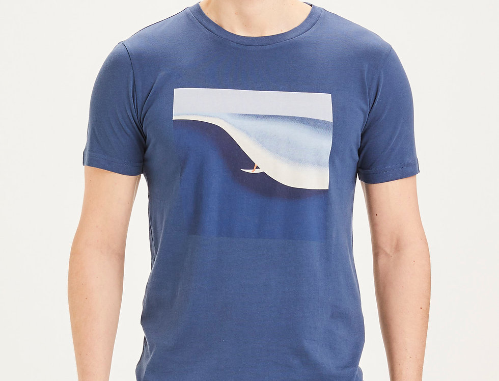 Knowledge Cotton Apparel Alder surf tee asley blue