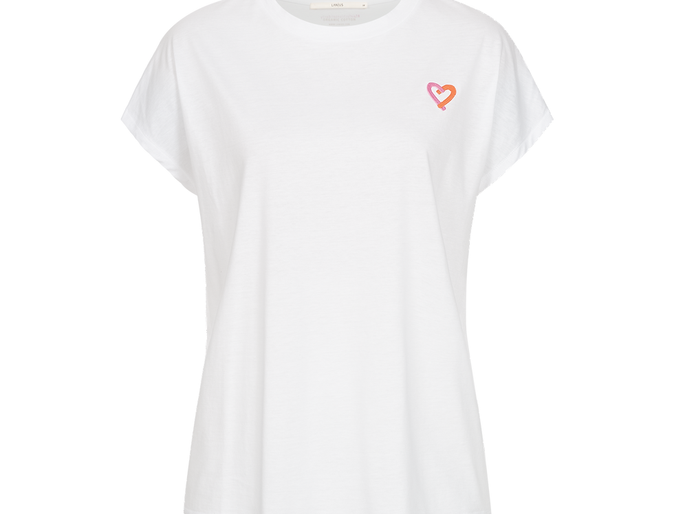 LANIUS Statement Shirt Heart white