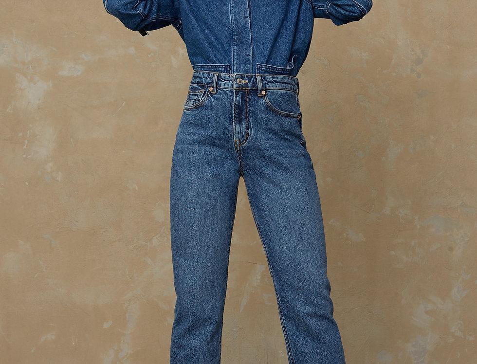 Kings Of Indigo Jeans Caroline Eco Xavier Blue Marble