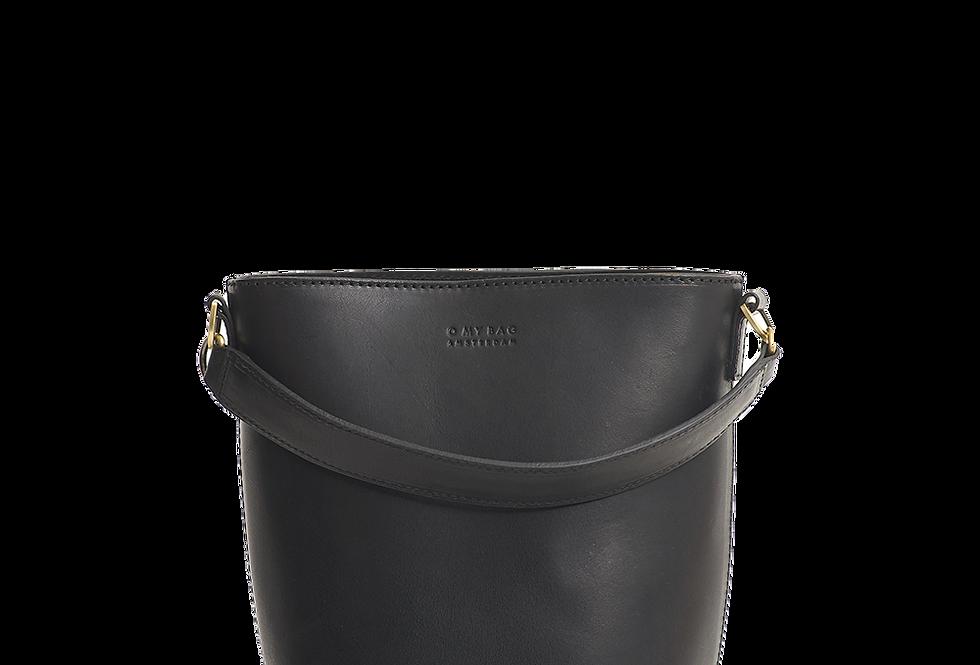 O MY BAG Bobbi Bucket Bag Black Classic Leather