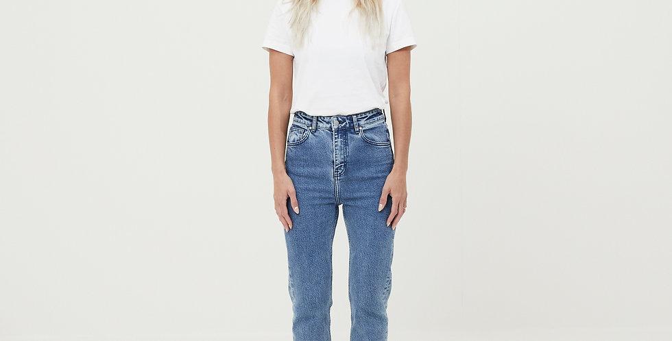 Knowledge Cotton Apparel Iris Mom Jeans light blue