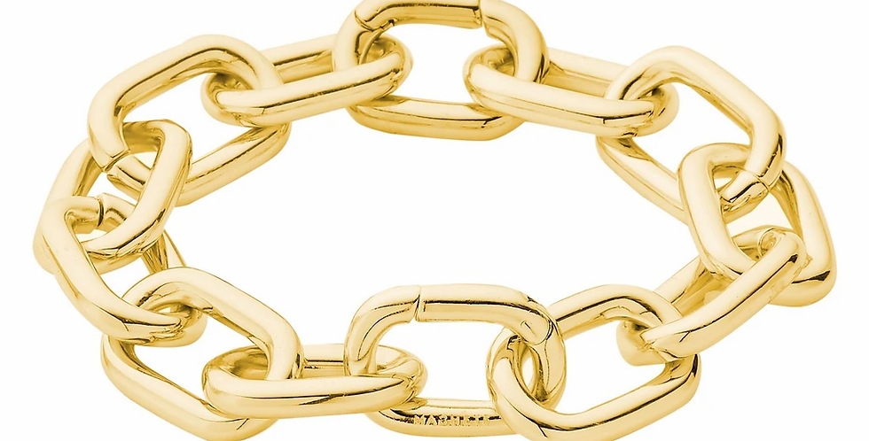 Machete Interchangeable Link Bracelet in 14k Gold