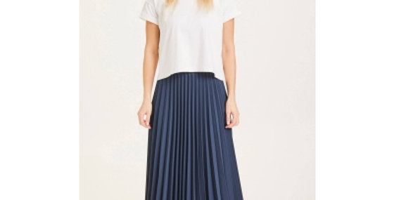 Knowledge Cotton Apparel Daffodil pleated midi skirt