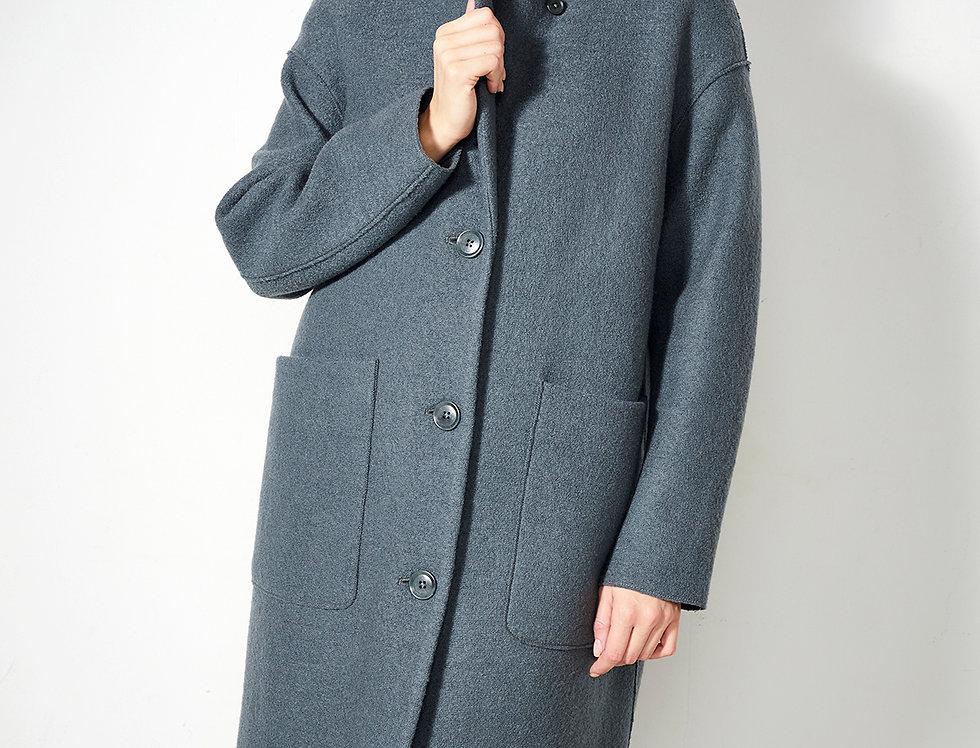 LangerChen Coat Carran in platinum