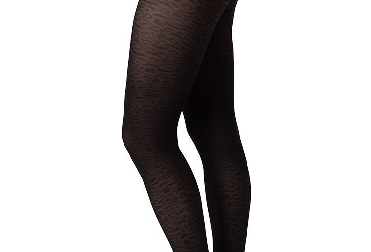 SWEDISH STOCKINGS Emma Leopard Tights Black