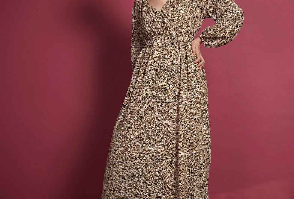 JAN 'N JUNE Maxidress Ellis reptile print