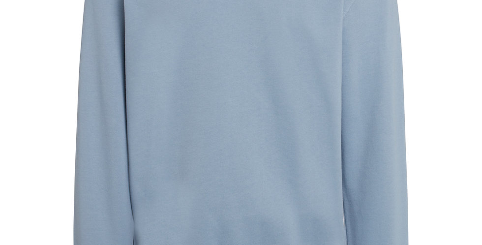 Knowledge Cotton Apparel Elm basic badge sweat asley blue