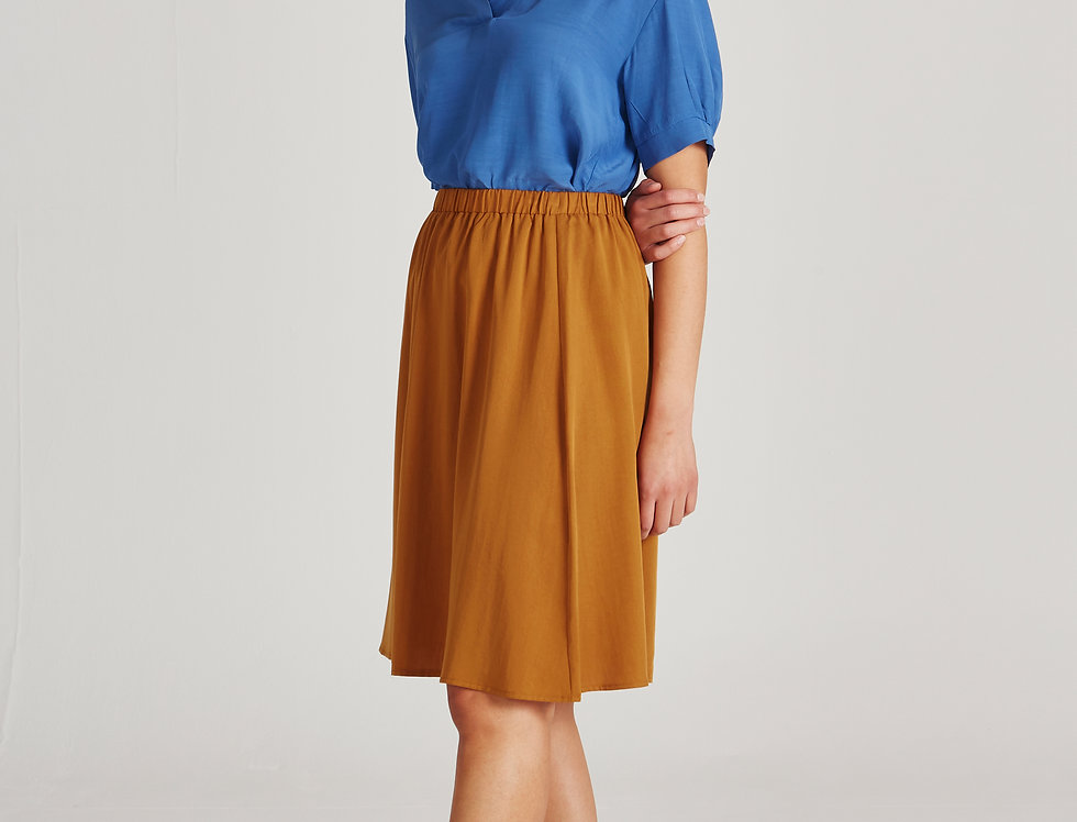 GIVN Lily Skirt Rubber Brown
