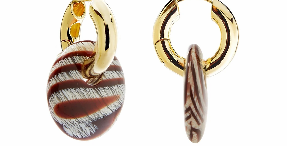 Machete Chunky Hoops in Gold mit Anhänger in Canyon
