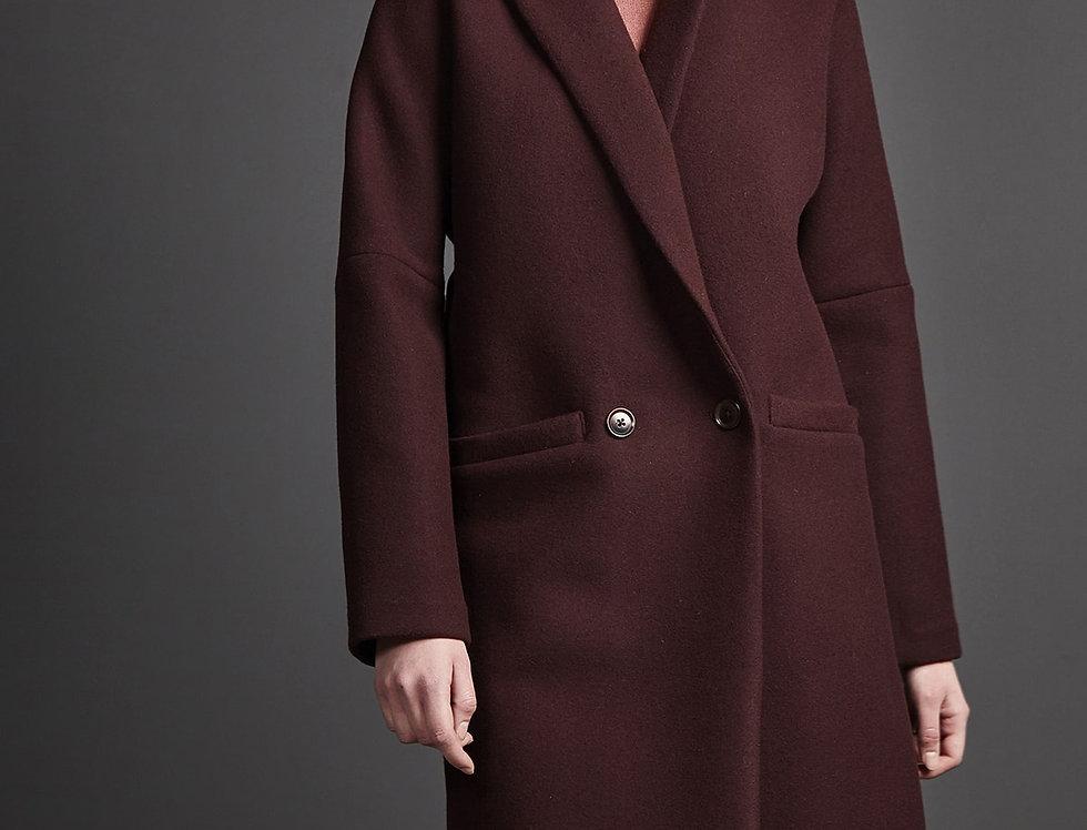 LangerChen Coat Eugene Bordeaux