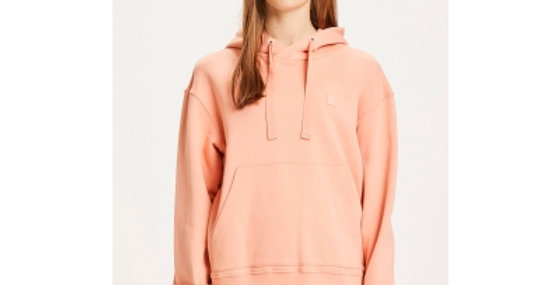 Knowledge Cotton Apparel Daphne basic badge Hoodie Shimp