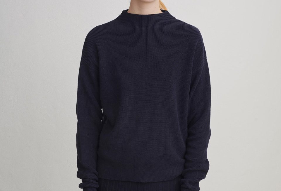 FUB Rib Sweater dark navy