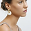 Thumbnail: Machete Chunky Hoops in Gold mit Anhänger in Ivory