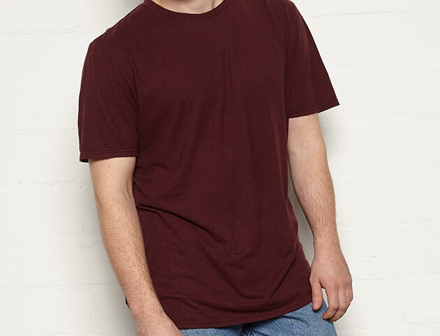 MÁ HEMP WEAR  Basic T - Ruck - Plum