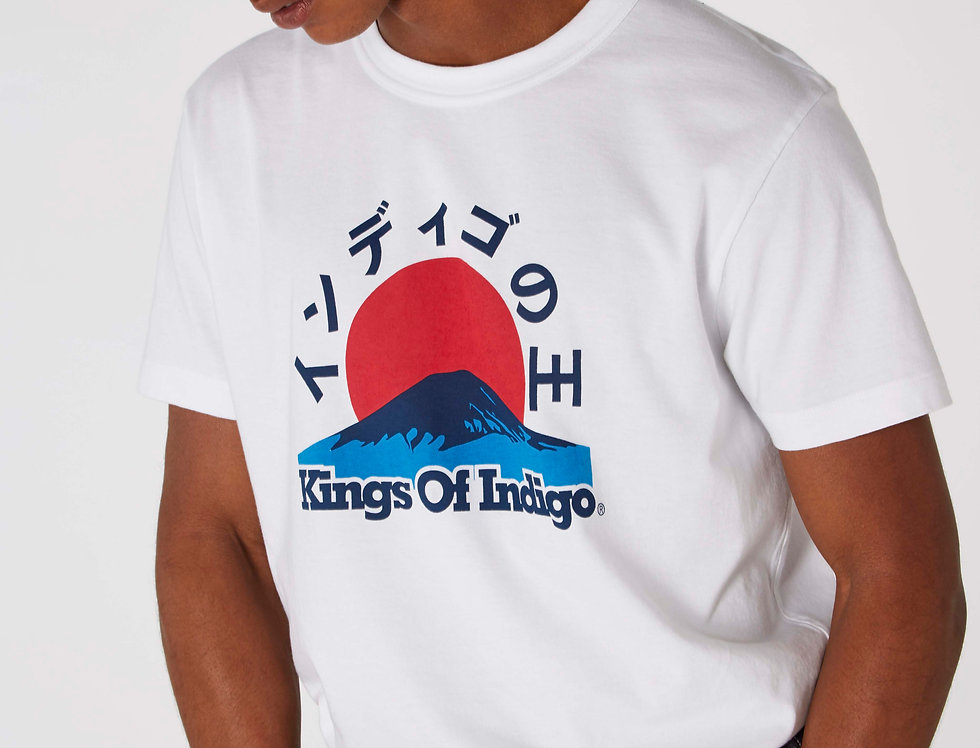 Kings Of Indigo Darius White Mount Fuji Unisex