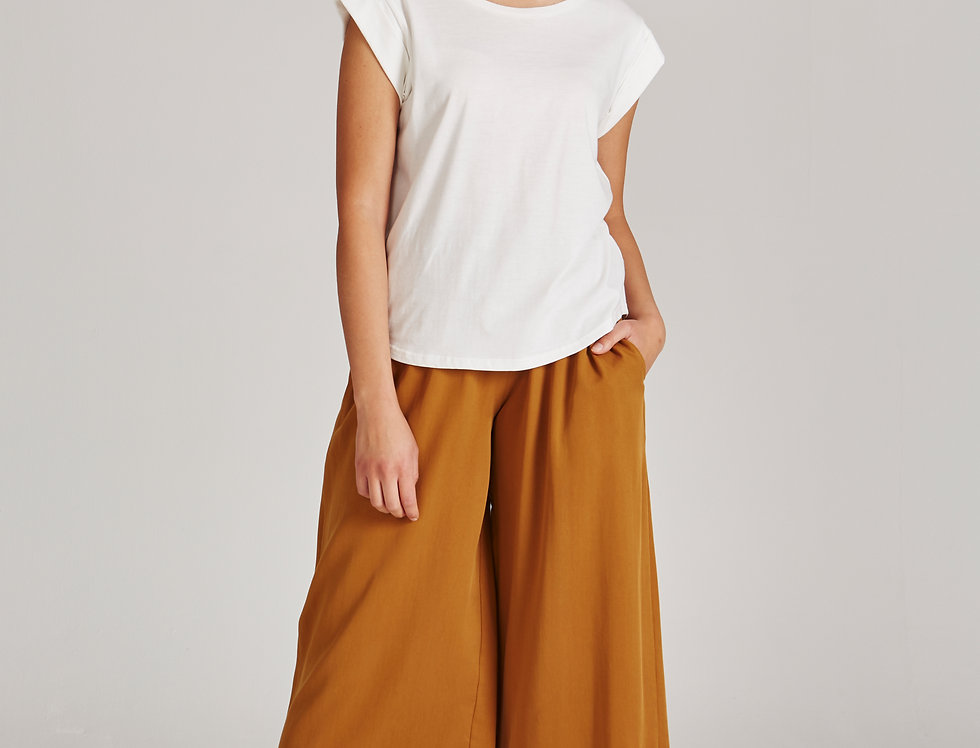 GIVN Anna Trousers Rubber Brown