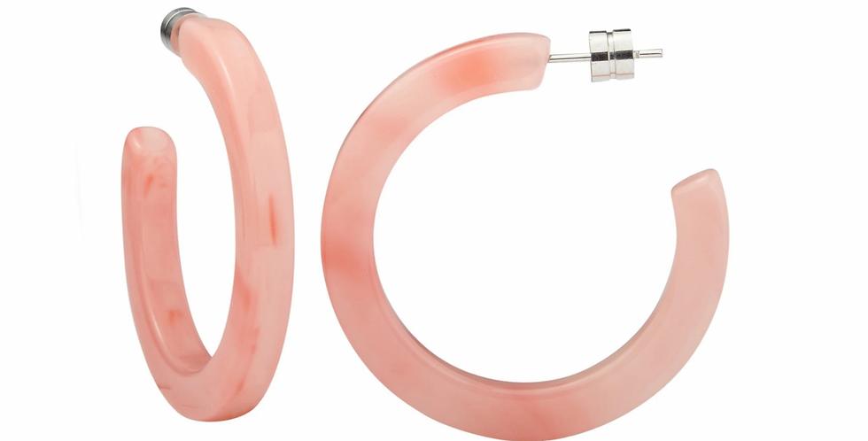 Machete Midi Hoops in Bright Pink