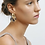 Thumbnail: Machete Chunky Hoops in Gold mit Anhänger in Blonde Tortoise