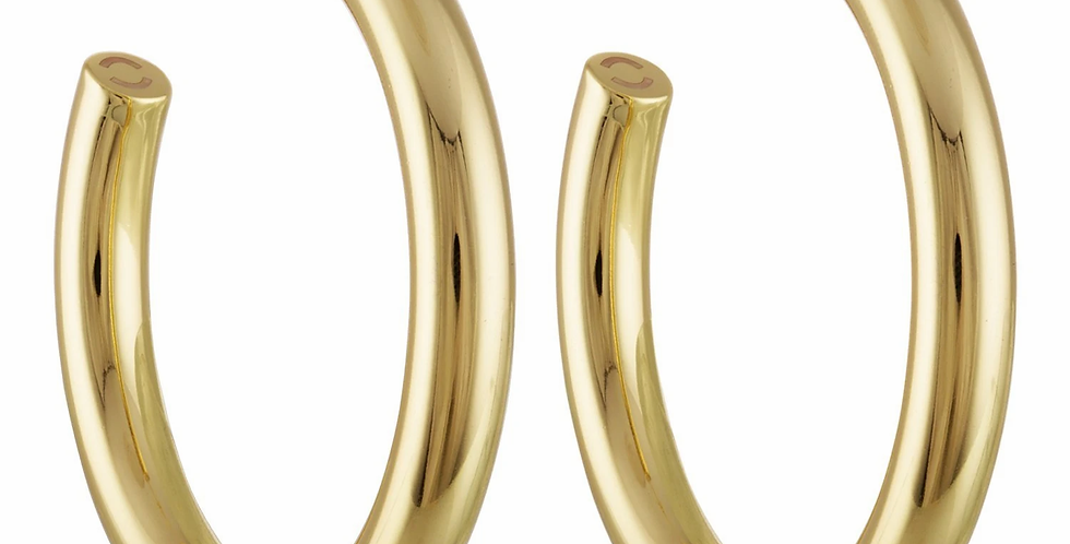 Machete 2,5'' Perfect Hoops in 14k Gold
