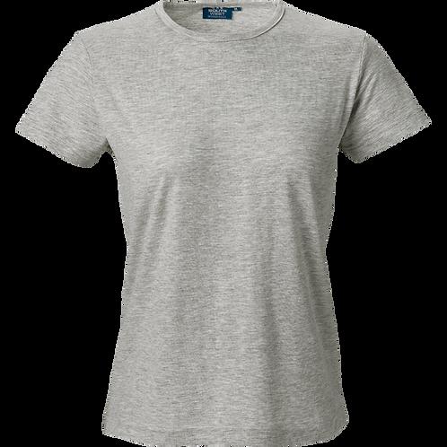 Grå meleret Venice slimfit dame t-shirt 2 stk