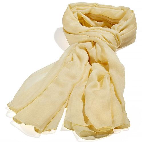 Tørklæde 100x200cm gul