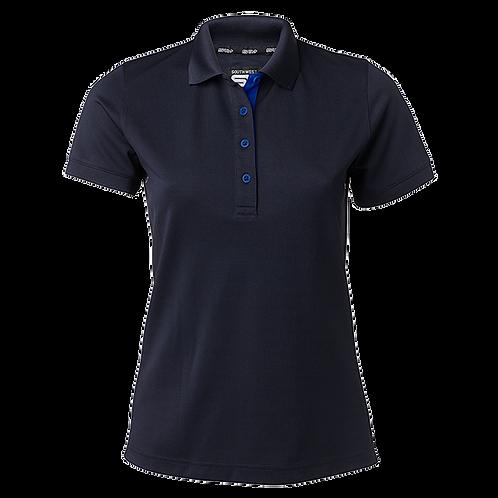 Cooldry dame polo t-shirt i marine med kontrast