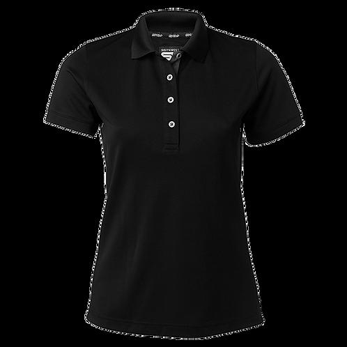 Cooldry dame polo t-shirt i sort med kontrast