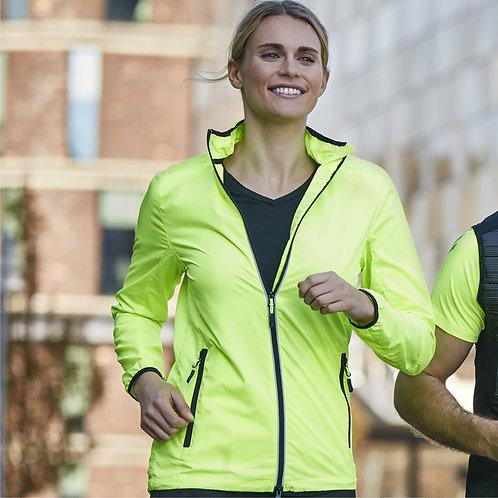 Løbejakke dame i neon med reflex