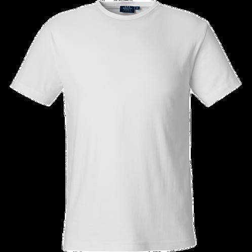 Hvid Delray slimfit herre bomulds t-shirt 2 stk.