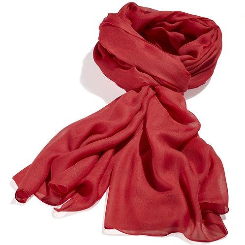 Tørklæde 100x200cm rød
