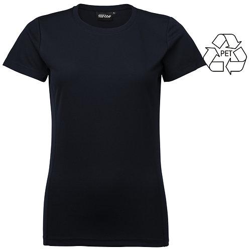 Recycle af pet flasker, dame t shirt navy 2 stk pakning