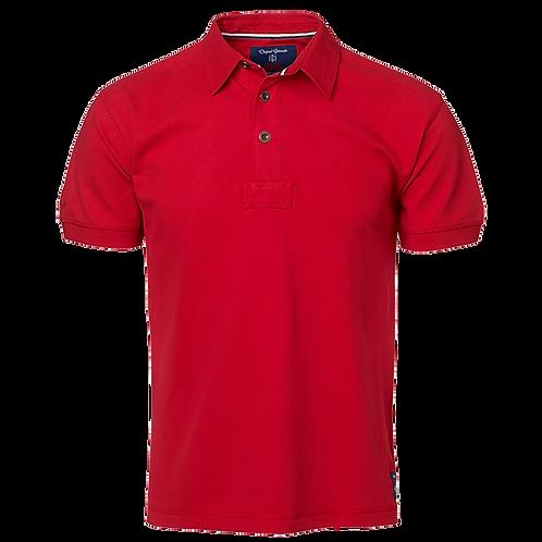 Herre polo t-shirt i rød, med fast krave.