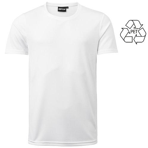Recycle af pet flasker, herre t shirt hvid i 2 stk pakning