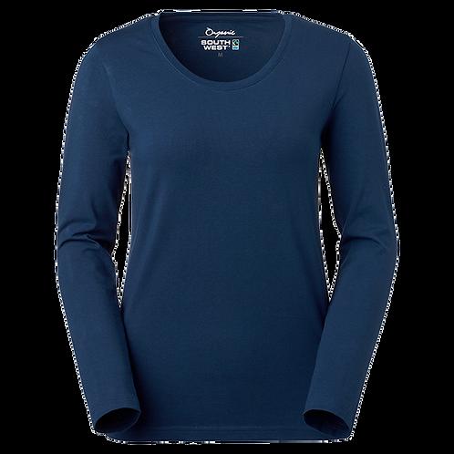Fairtrade, indigo blå t-shirt i økologisk bomuld