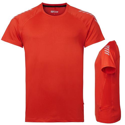 Løbe t shirt mænd, orange med reflex
