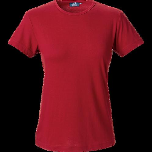 Varm rød Venice slimfit dame t-shirt 2 stk.