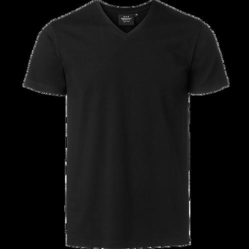 Sort Frisco herre t-shirt V-Hals bomuld-elastan 3stk