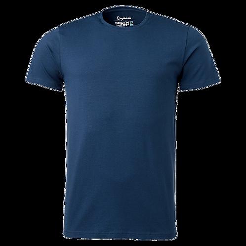 Fairtrade, blå t-shirt i økologisk bomuld