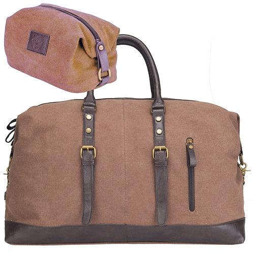 Rejsetaske sæt - brun