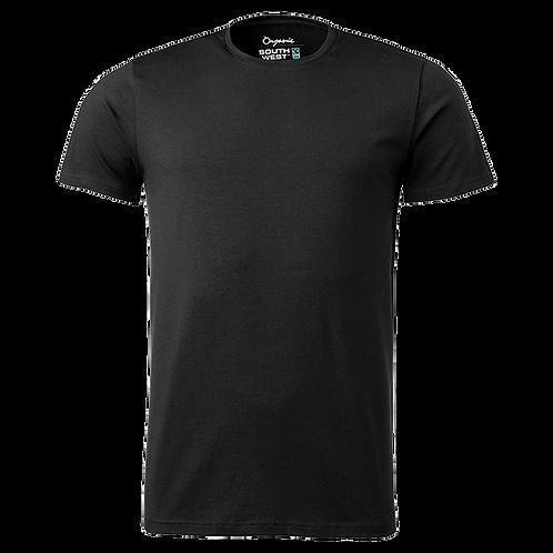 Fairtrade, sort t-shirt i økologisk bomuld