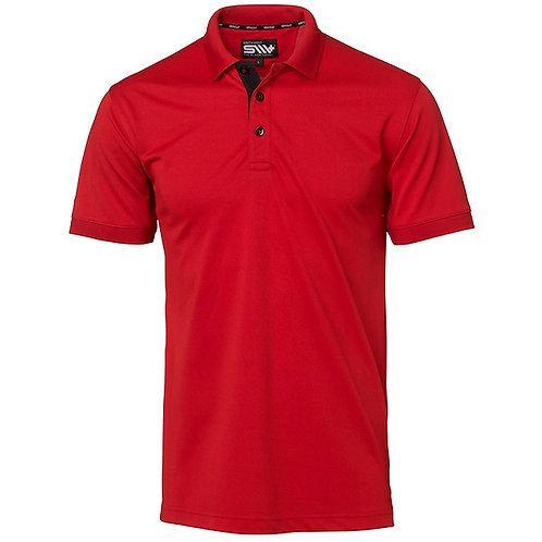 Cooldry herre polo t-shirt i rød med kontrast