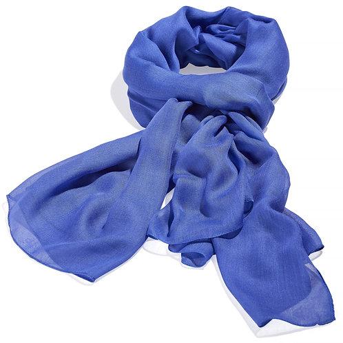 Tørklæde 100x200cm koboltblå