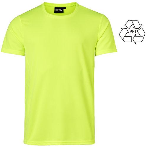 Recycle af pet flasker, herre t shirt neon i 2 stk pakning