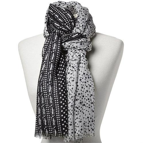 Tørklæde 100x180cm sort-hvid