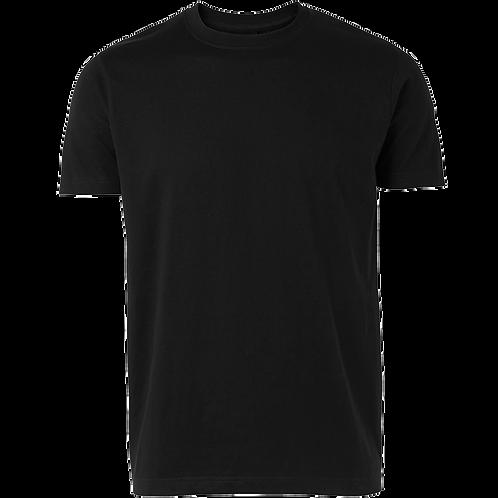 Billig Basis t-shirt i sort. Pakke med 6 stk.