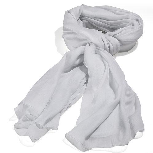 Tørklæde 100x200cm lys grå