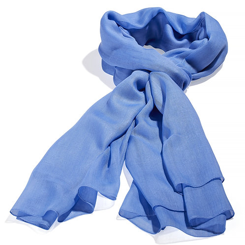 Tørklæde 100x200cm mellemblå