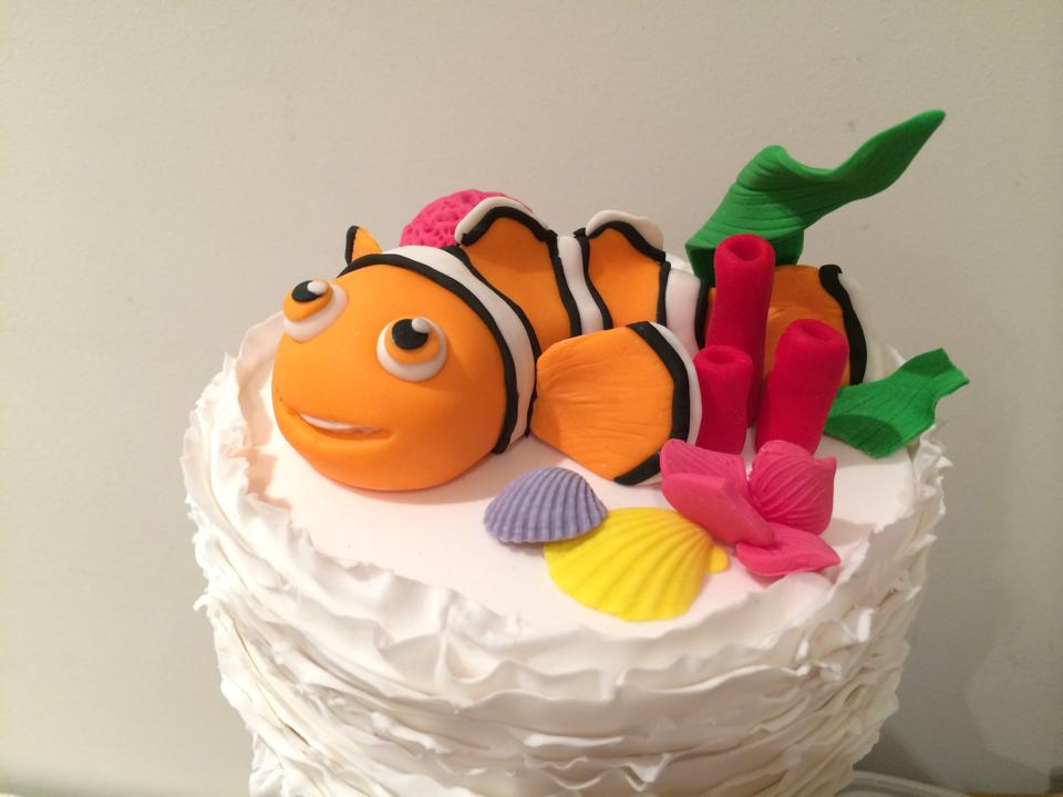 Nemo Under the sea birthday cake