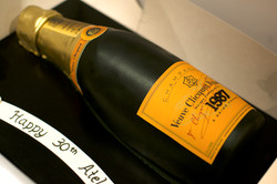 French wine bottle cake Veuve Clicquot